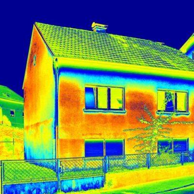 warmtescan van een woning